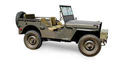 Brown / Green off-road military car