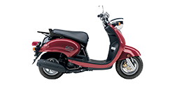Photo of a red scooter