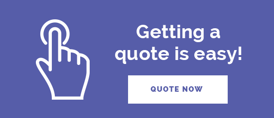 """Getting a quote is easy! Quote now"" graphic"