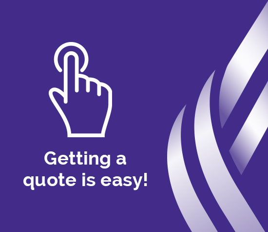 """Getting a quote is easy"" graphic"
