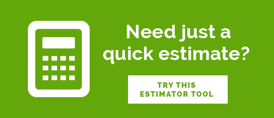 """Need just a quick estimate? Try this estimator tool"" graphic"