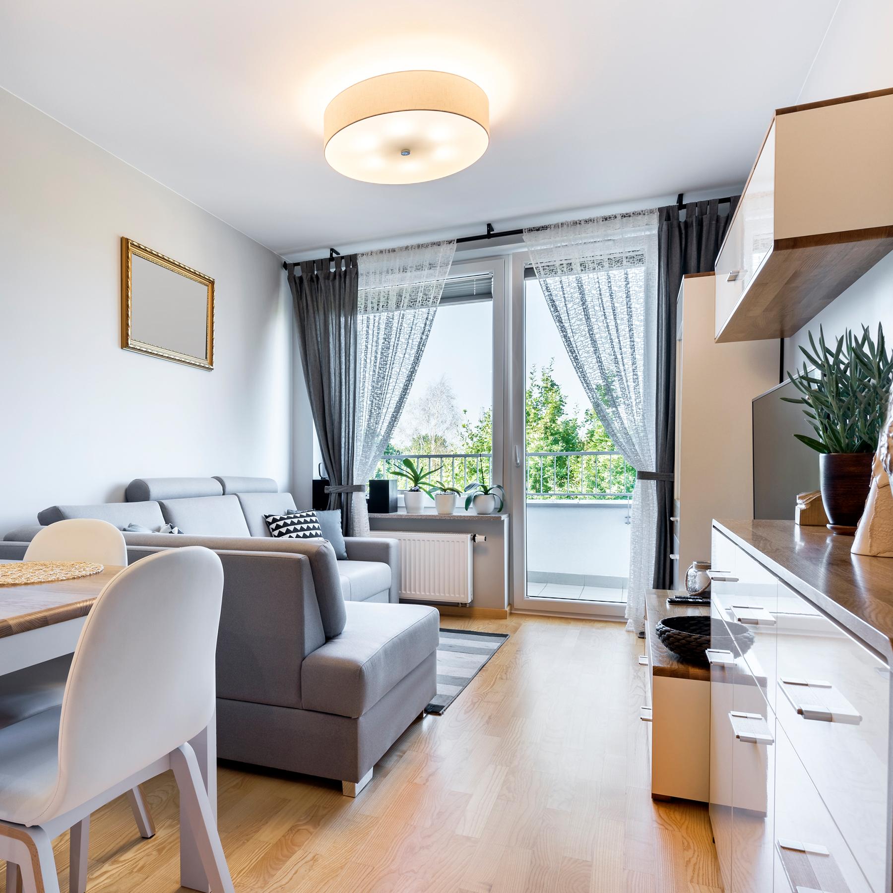 Photo of a condo living room