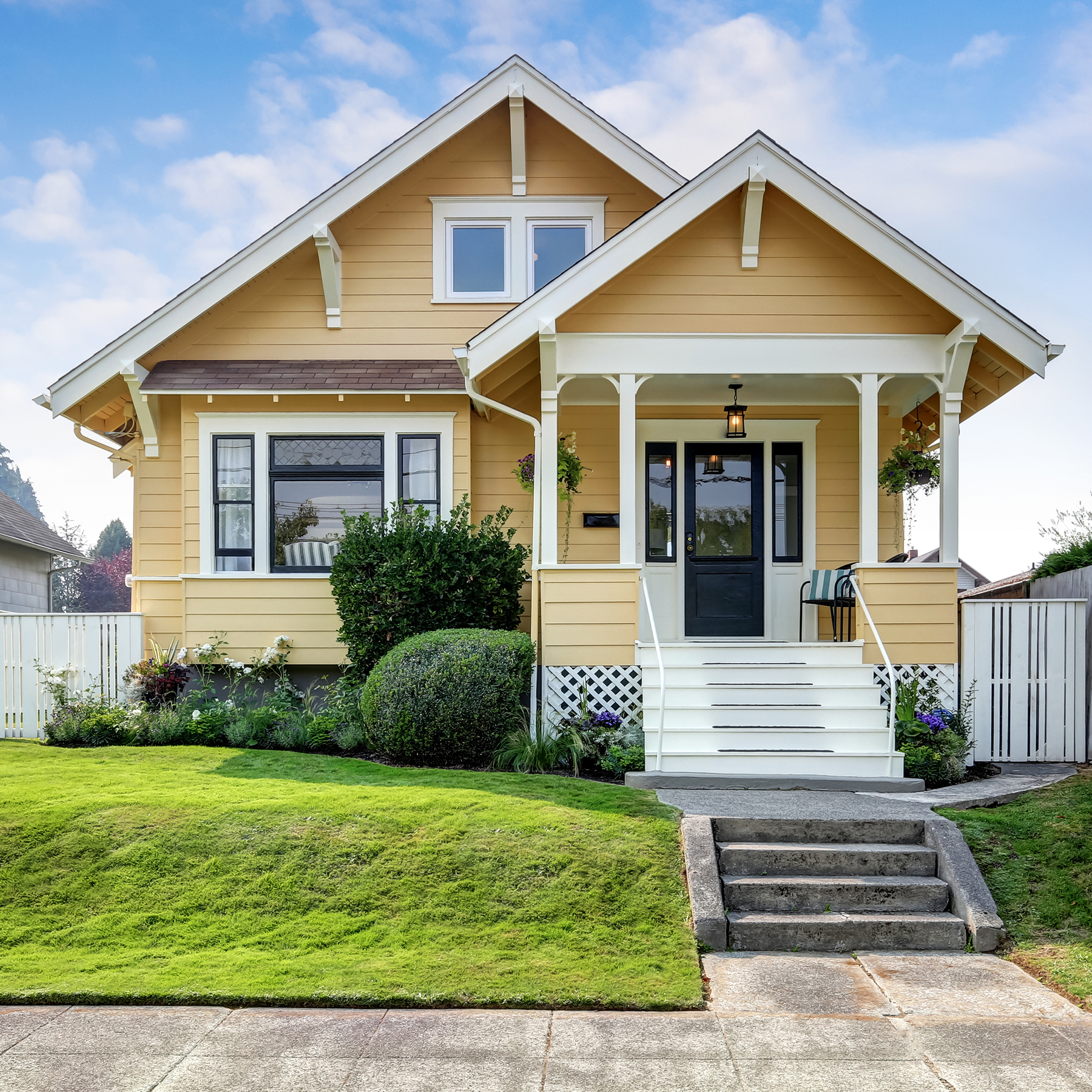Photo of a yellow house